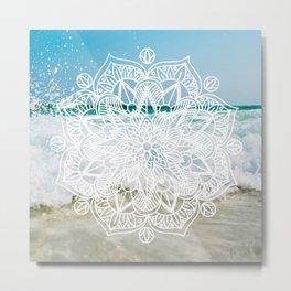 Beach Manadala Metal Print