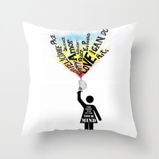 The Right way to use your mind Throw Pillow