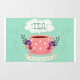 Tea Is A Hug In A Cup Rug