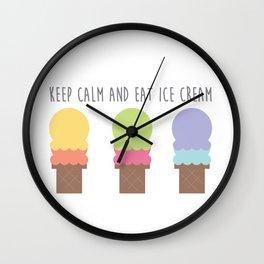 Keep Calm and Eat Ice Cream Wall Clock
