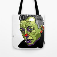 camus Tote Bags featuring A. Camus by philip painter