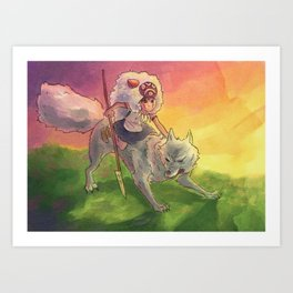 mononoke - fan art Art Print