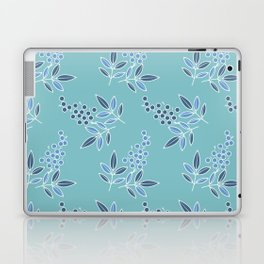 Natural Berries Soft Blue Leaves Flow Laptop & iPad Skin