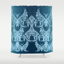 Indian Butterfly Enblem Shower Curtain