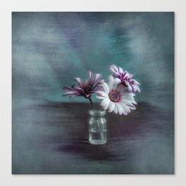 Dasies in vial Art Canvas Print