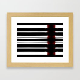Black And White Lines Framed Art Print