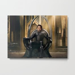 Kendrick Lamar - Watch The Black Throne Metal Print