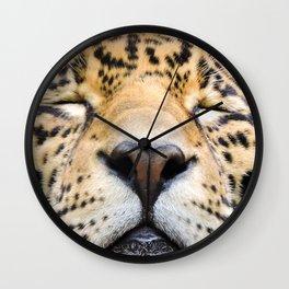Sleeping Jaguar Wall Clock
