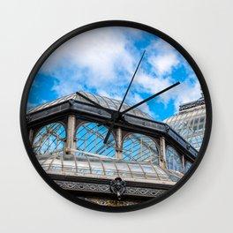 Crystal Palace in Retiro Park, Madrid Wall Clock