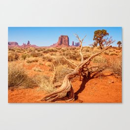 That way to Artist Point -Monument Valley Canvas Print