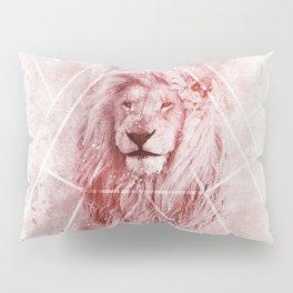 Sacred Majestic Red Lion Spirit Animal Pillow Sham