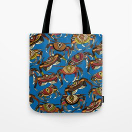 crabs blue Tote Bag