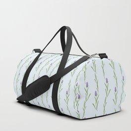 Modern artistic pastel blue lavender watercolor floral pattern Duffle Bag