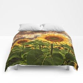 Sunflowers at Sunset Comforters