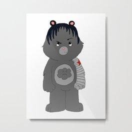 Grumpy Bucky Bear Metal Print