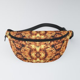 Brown Yellow  Flower Pattern Fanny Pack