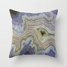 Royal Aztec Lace Agate Throw Pillow