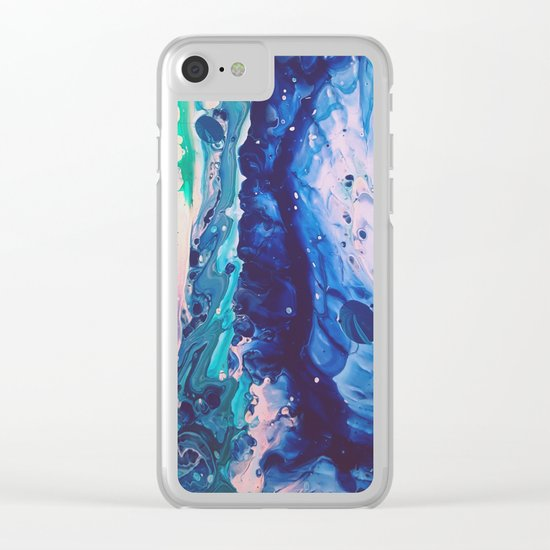 Aquatic Meditation Clear iPhone Case