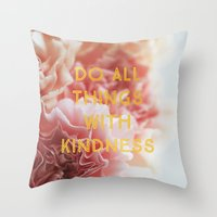 With Kindness Throw Pillow