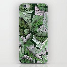 Art Nouveau William Morris Green Acanthus Leaves iPhone Skin