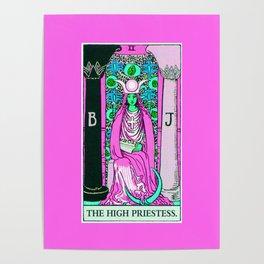 2. The High Priestess- Neon Dreams Tarot Poster