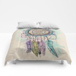 Modern tribal hand paint dreamcatcher mandala design Comforters