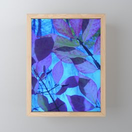 Purple Leaves Framed Mini Art Print