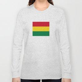 Flag of bolivia-bolivian,spanish,america,south america,latin america,coffee,Santa cruz,Sucre,La paz Long Sleeve T-shirt