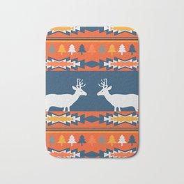 Deer winter pattern Bath Mat