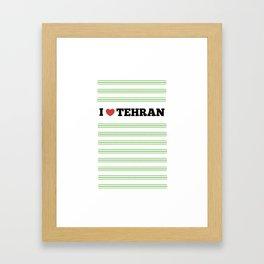I Love Tehran Framed Art Print