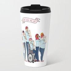 Intersectional Rosie the Riveter Travel Mug