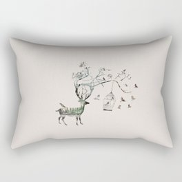 Wildlife Deer Rectangular Pillow
