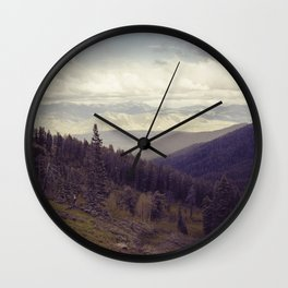 Above The Mountains Wall Clock