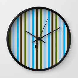 UBER COOL guy stripes Wall Clock