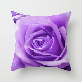 Violet roses Throw Pillow