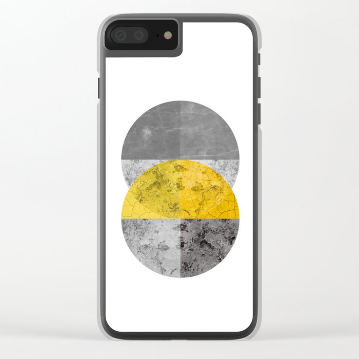 Geometric Composition 6 Clear iPhone Case