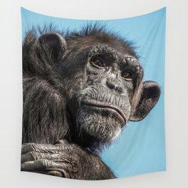 Chimpanzee monkey Wall Tapestry