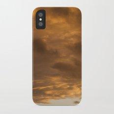 orange clouds iPhone X Slim Case