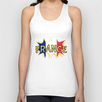 france Tank Tops featuring France by mailboxdisco