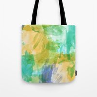 the strokes Tote Bags featuring strokes by Carrie Baum