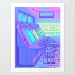 Midnight Arcade Art Print