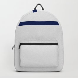Contemporary modern navy blue off white geometrical Backpack