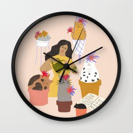 How Often Should I Water My Cat to Make It Bloom All Year Round? Cactus Cats Wall Clock