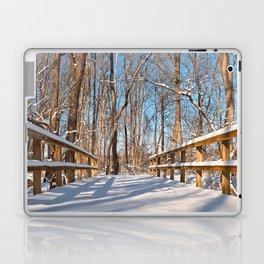 Susquehanna Winter Forest Bridge Laptop & iPad Skin