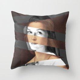 Raphael's Portrait of Woman & Meryl Streep Throw Pillow