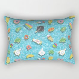Pool floaties Rectangular Pillow