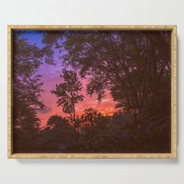 Sunset Trees Serving Tray
