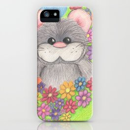 Hammy in Flowers iPhone Case