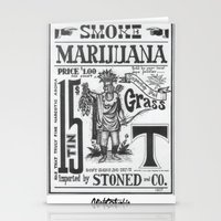 marijuana Stationery Cards featuring SMOKE MARIJUANA by NIGHTJUNKIE
