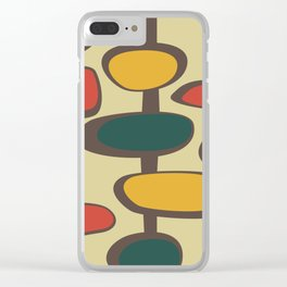 Mid Century Modern Baubles (gold) Clear iPhone Case